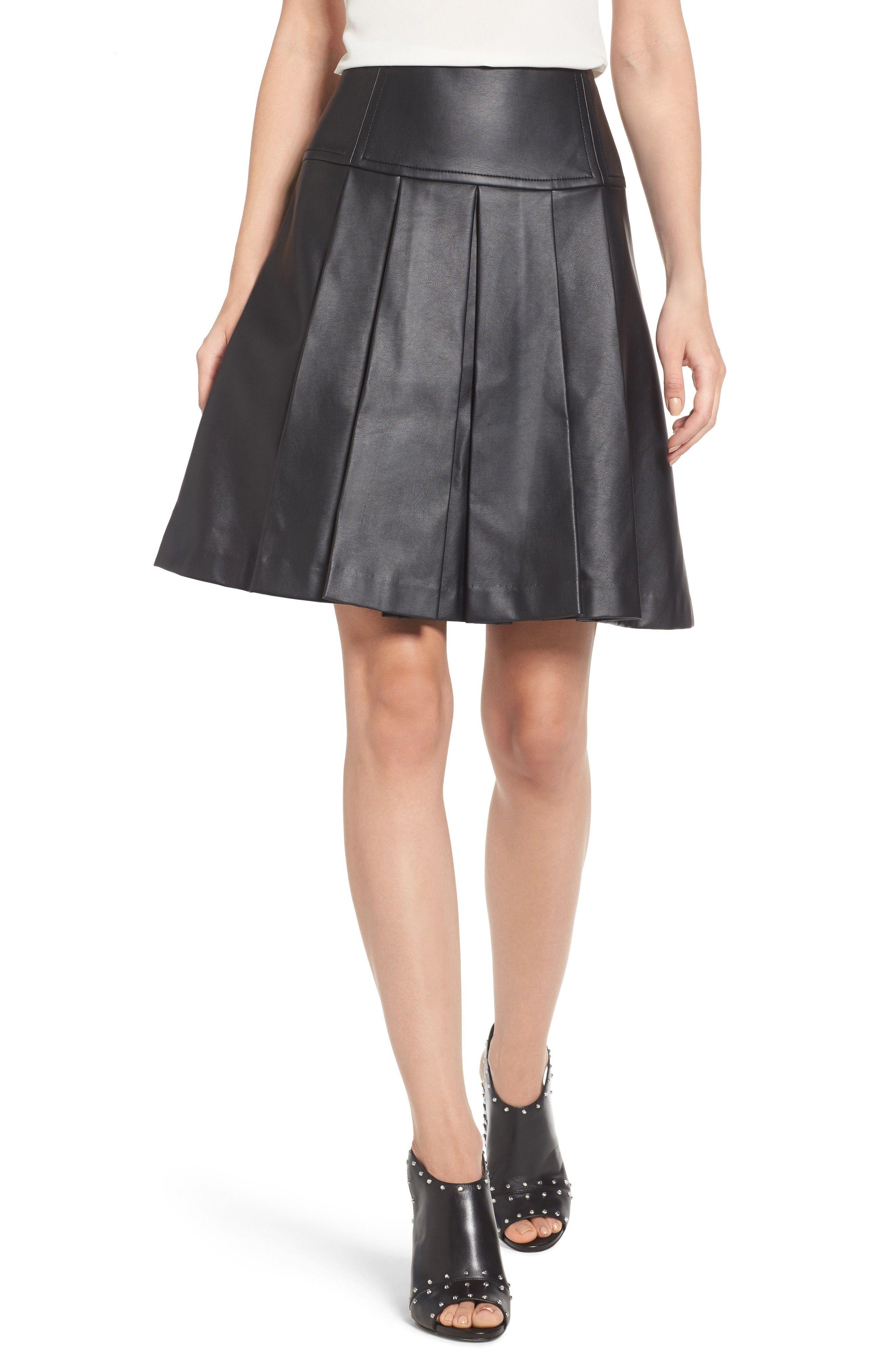 7d81863c7 Buy MICHAEL MICHAEL KORS Pleat Faux Leather Skirt online. [$98] SKU  ACEX66771PUXI81243