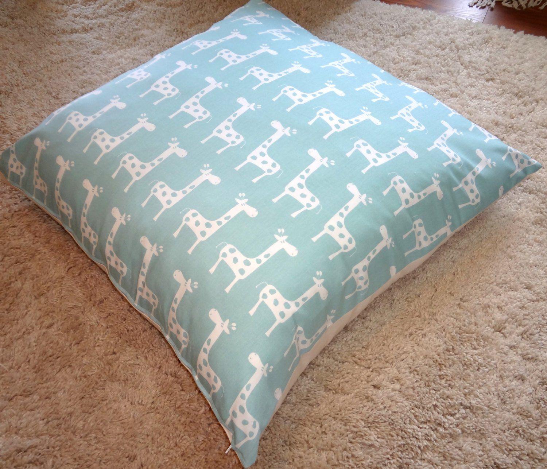 Overstock Clearance Sale Large Floor Pillow Cover Blue Giraffe Chevron Print Floor Pillow Cover Childrens Flo Large Floor Pillows Floor Pillows Childrens Floor