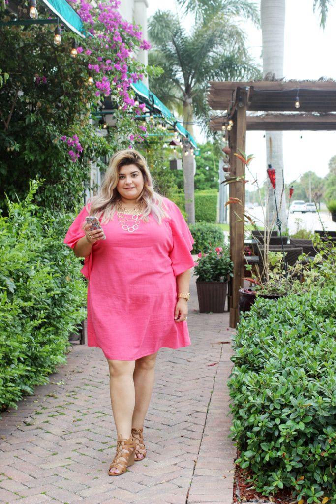 brunch ready in a ruffle sleeve shift dress | plus size, plus size