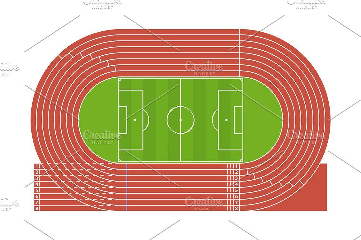 Running Track Stadium 디자인, 사진