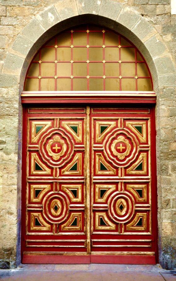 Pamplona, Navarre, Spain door.