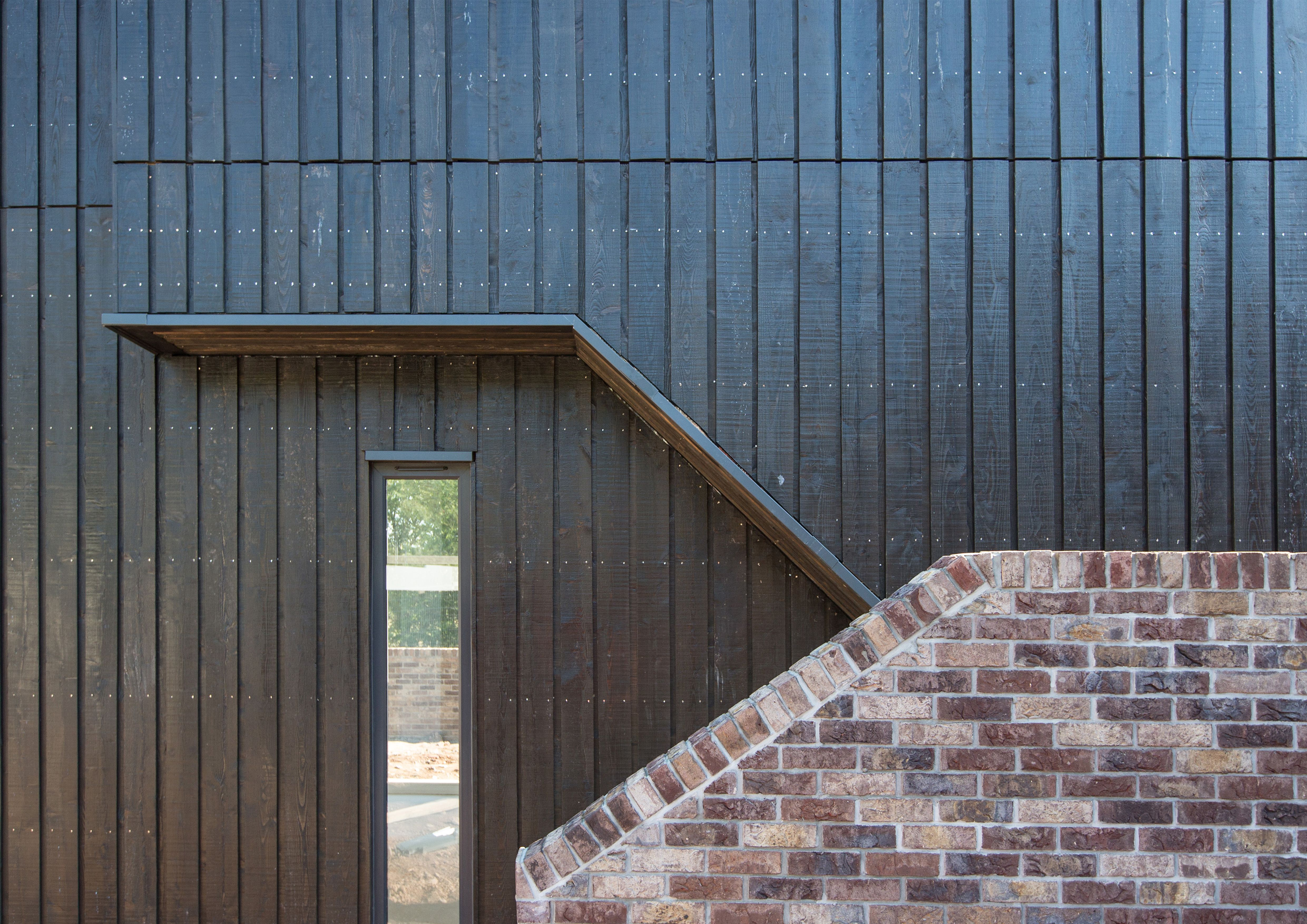 black vincent timber clad houses | Russwood's Charred Larch uses European Larch timber which ...