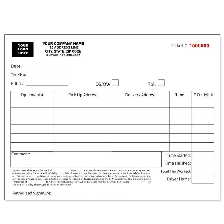 Trucking Company Forms And Envelopes Custom Printing Designsnprint Trucking Companies Trucks Company