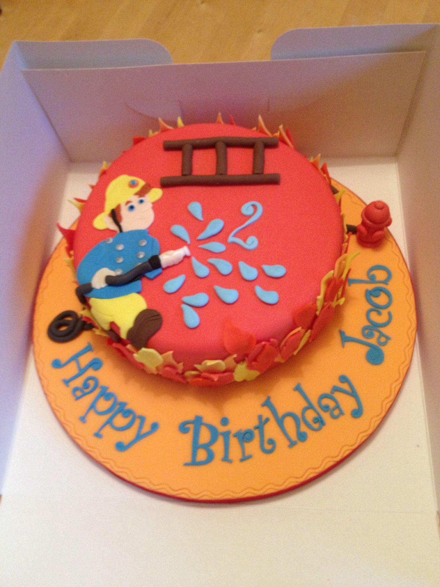 Fireman Sam Birthday Cake Childrens Birthday Cakes Pinterest