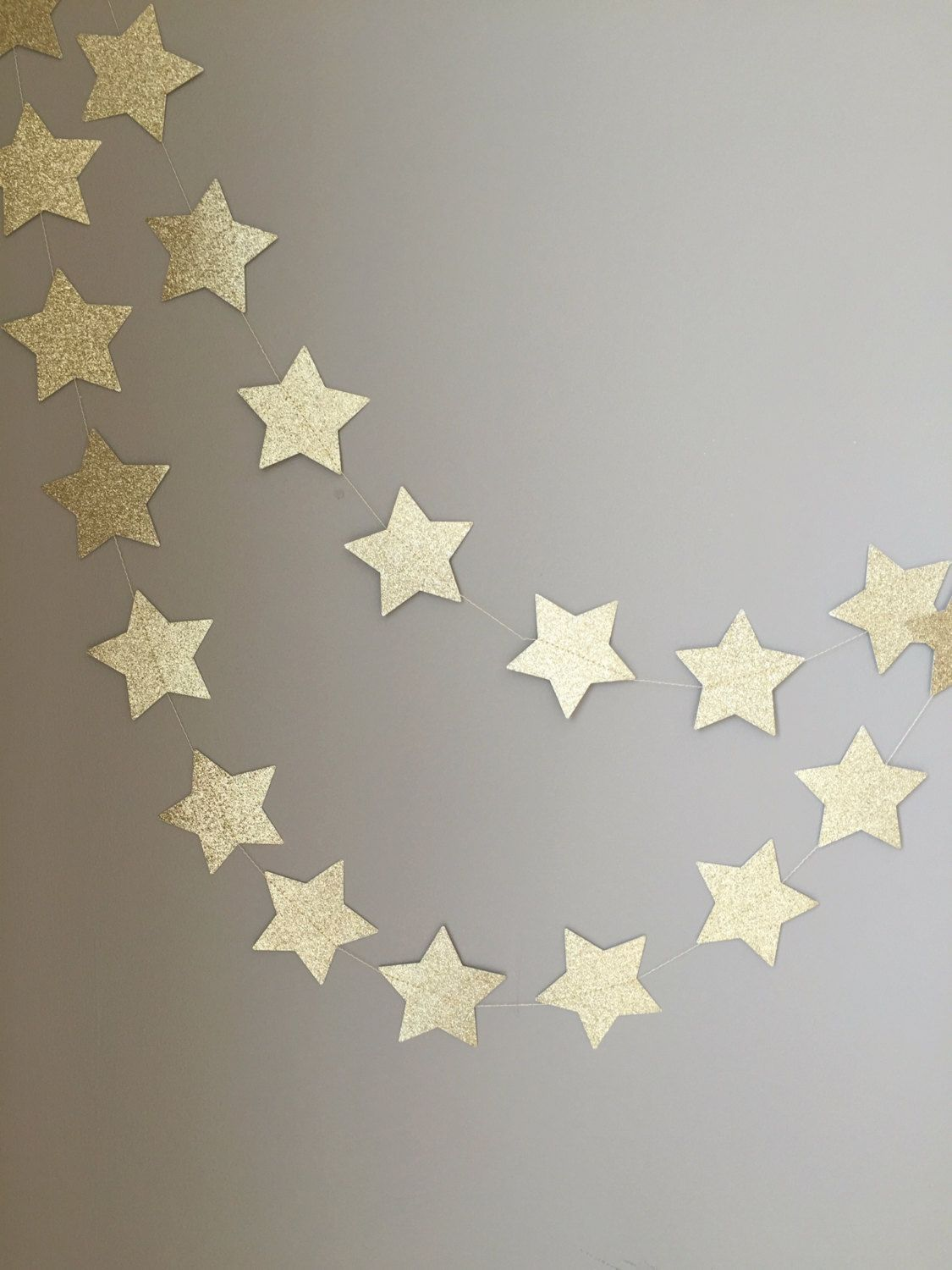 Wedding decorations muslim october 2018 Twinkle Twinkle Little Star Gold Glitter Star Garland First