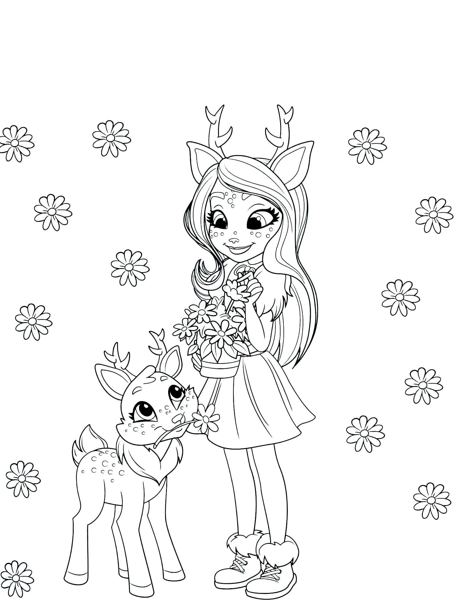 Disegni Da Stampare Gratis Bello Disegni Da Colorare Con Enchantimals Per Le Ragazze Stampa O In 2020 Unicorn Coloring Pages Disney Coloring Pages Love Coloring Pages