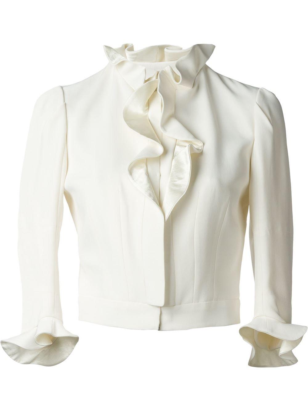 Alexander McQueen ruffled jacket
