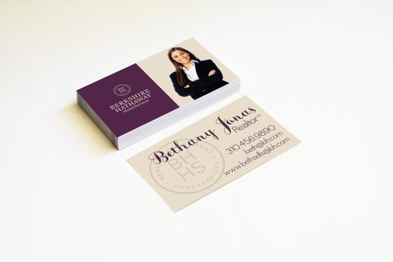 Realtor business cards berkshire hathaway modern template matte or realtor business cards berkshire hathaway modern template matte or glossy color both sides reheart Choice Image