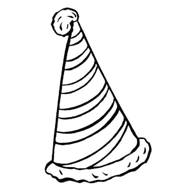 Birthday Hat Coloring Page 650x650