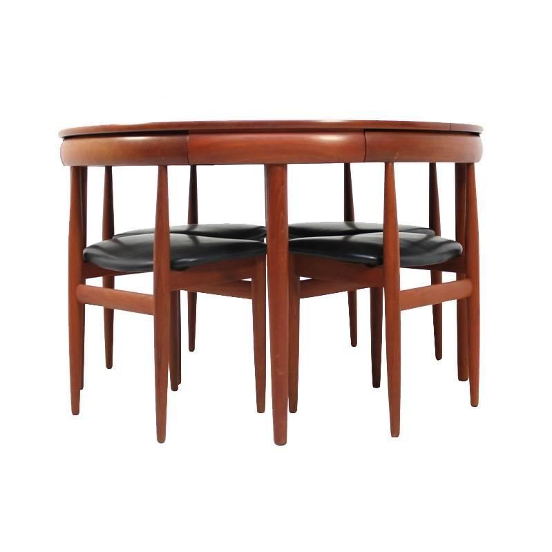 1960s Dining Set Table And Four Chairs By Hans Olsen For Frem