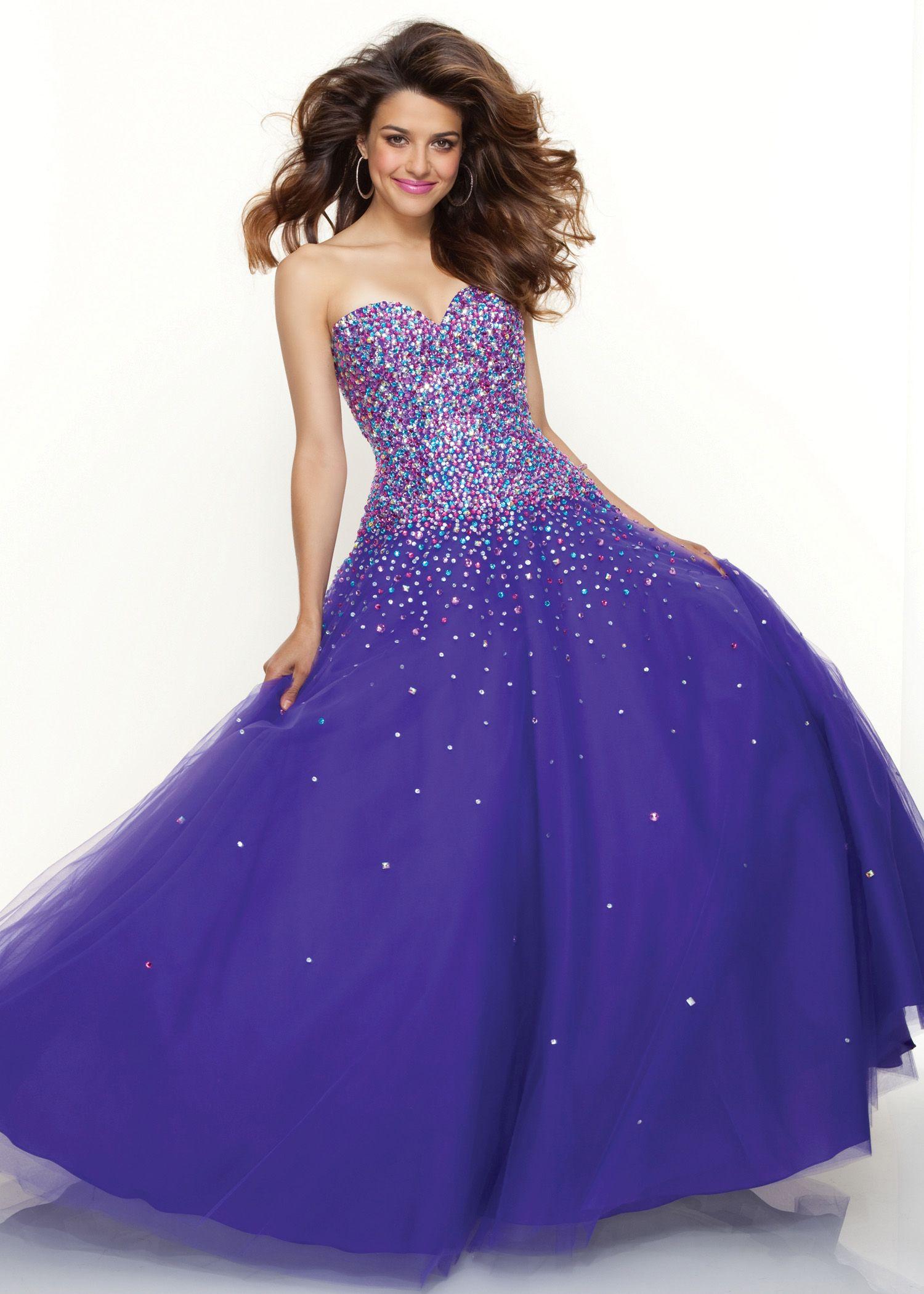 beautiful purple ball gown | Paparazzi by Mori Lee 93067 | Long ...