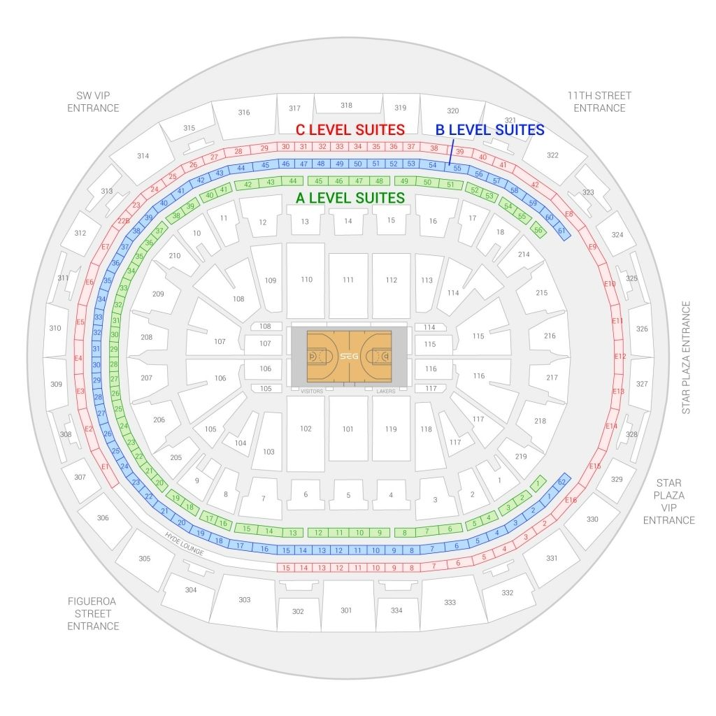 The Amazing Staples Center Wwe Seating Chart