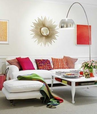 what goes above the sofa... Mirrors! - Design ManifestDesign Manifest
