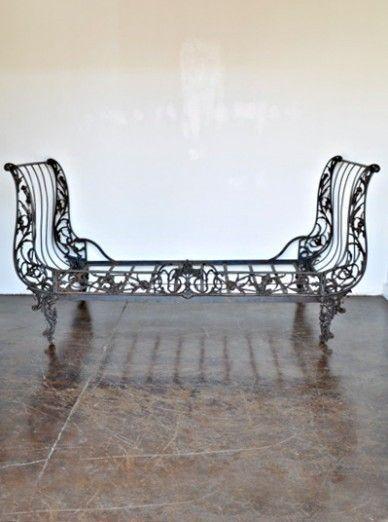 Antique Iron Sleigh Bed 2650 Exterior Furniture