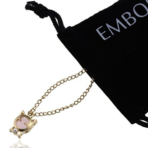 Gold Pink Pearl Owl Charms Mood Necklace  Fashionable Jewelry Accessories for Women Girls and Teen Girls *** Read more  at the image link.