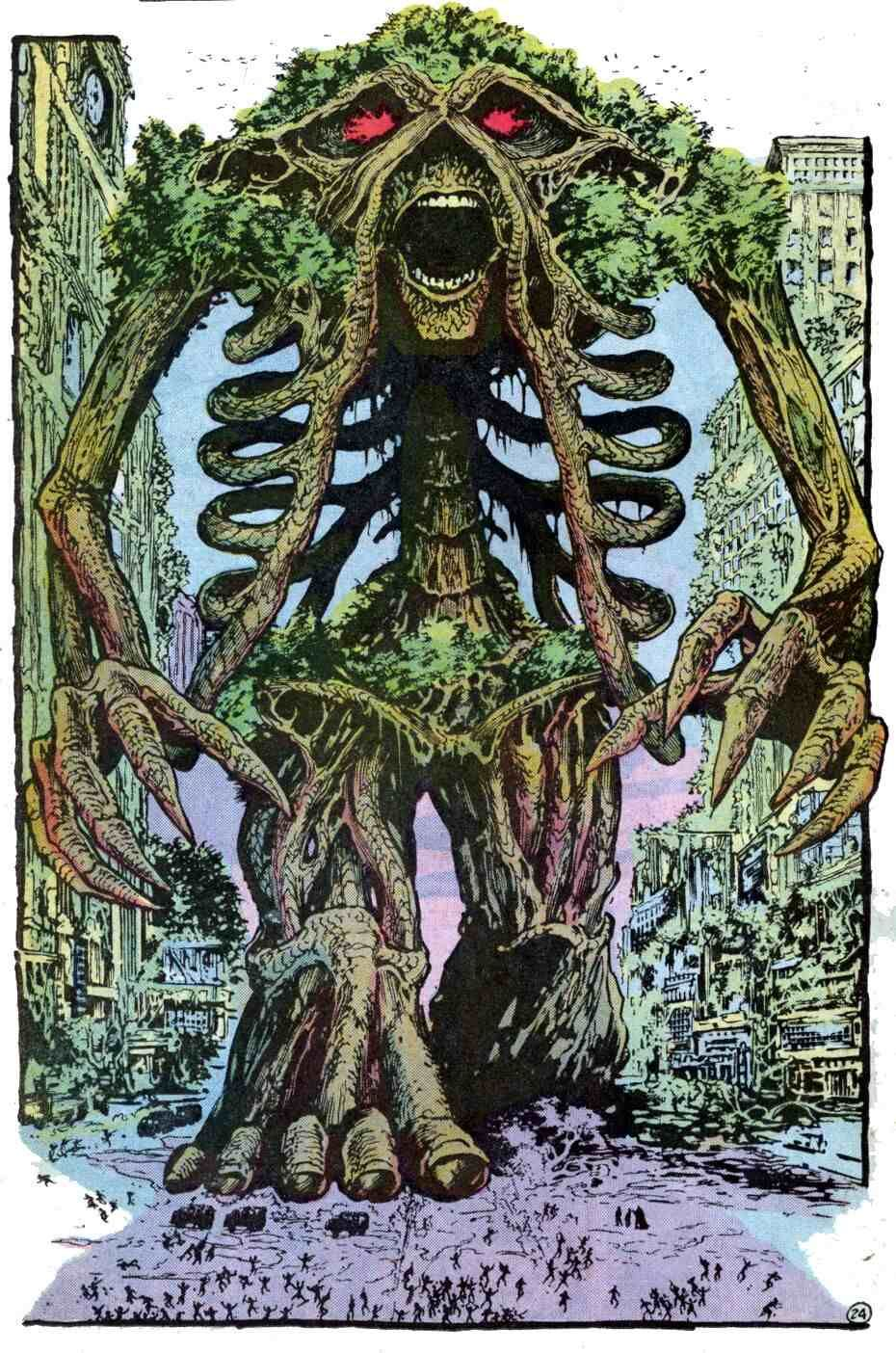 John Totleben art from the classic Swamp Thing #53 ...