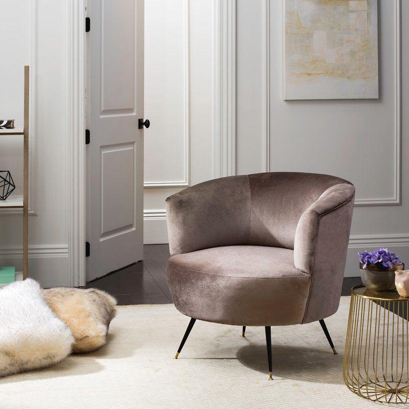 Best Mullen Barrel Chair Grey Accent Chair Velvet Accent 400 x 300