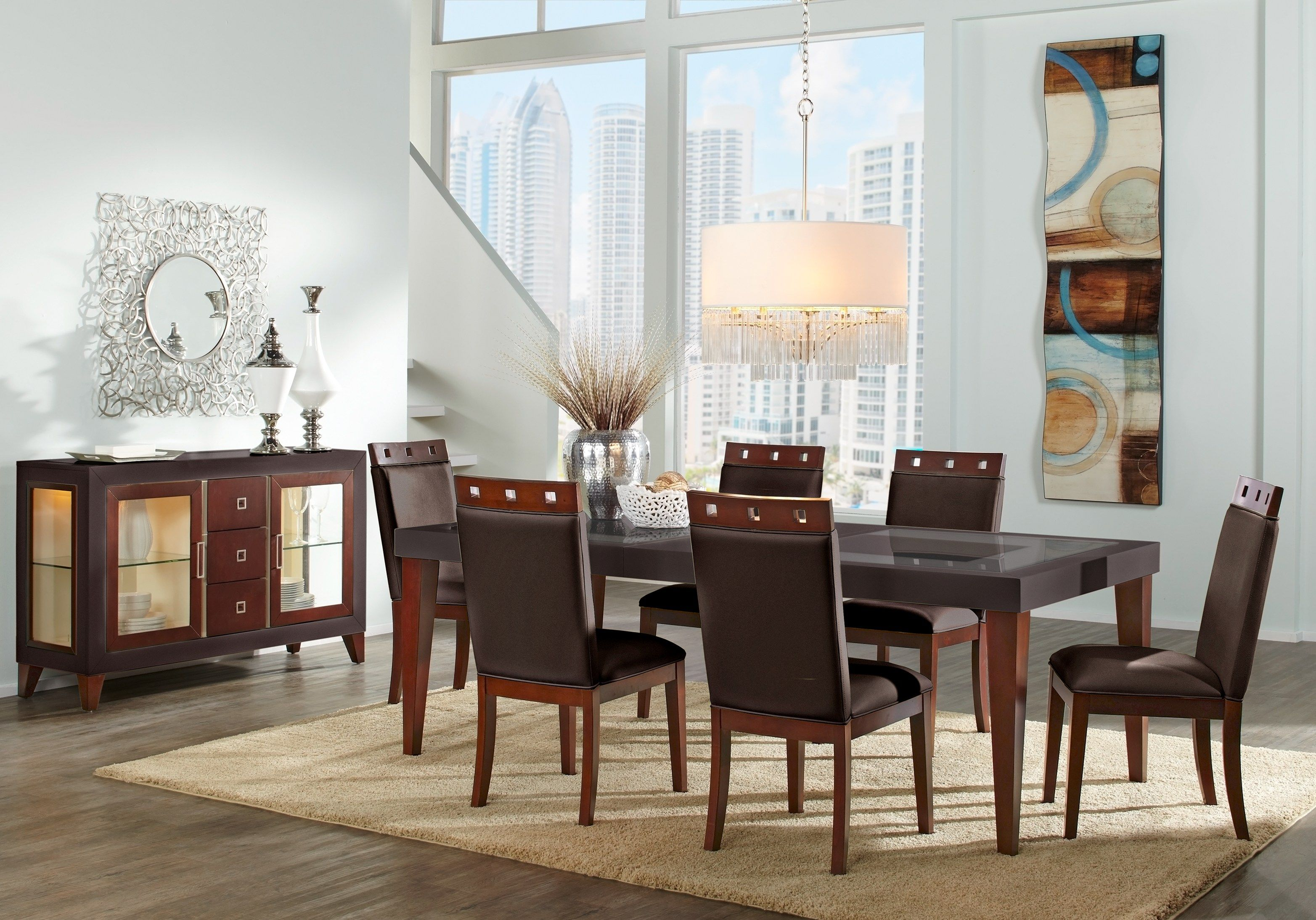Sofia Vergara Savona Chocolate 5 Pc Rectangle Dining Room Formal