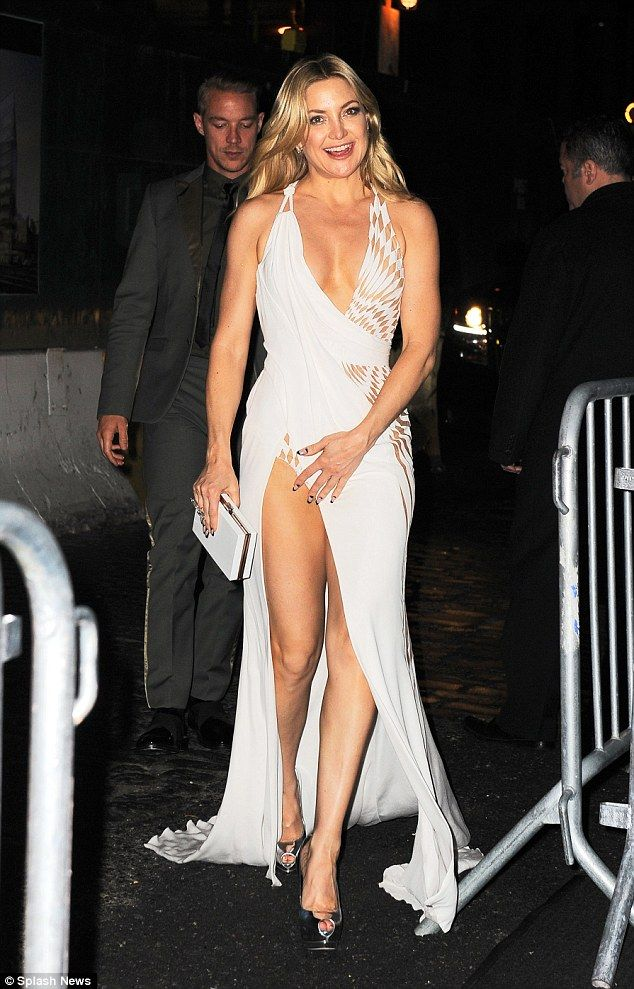 Glamorous: Kate Hudson was leading the star-studded arrivals at the Boom Boom Room Met Gala after-party at the top of the Standard Hotel in New York City on Monday night