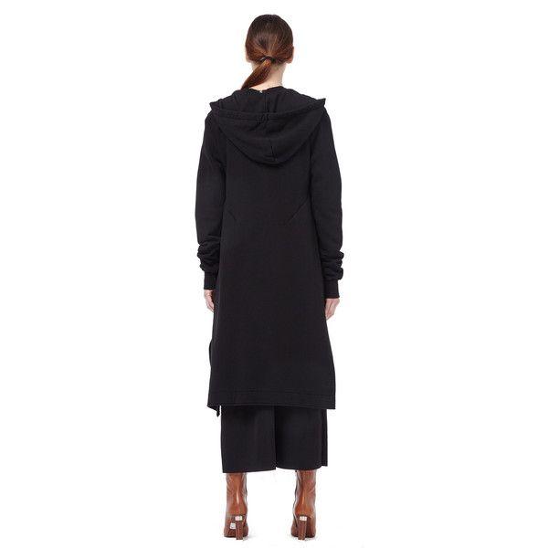 Drkshdw by Rick Owens Cotton Zip Hoodie (27,190 MKD) ❤ liked on Polyvore featuring tops, hoodies, hoodie top, zip top, zipper hoodies, zipper hoodie and hooded sweatshirt