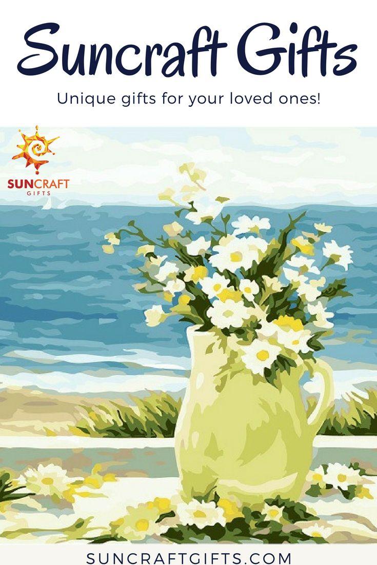 DIY Painting Kit-Paint by numbers- Seaside flowers. #diy #custom ...
