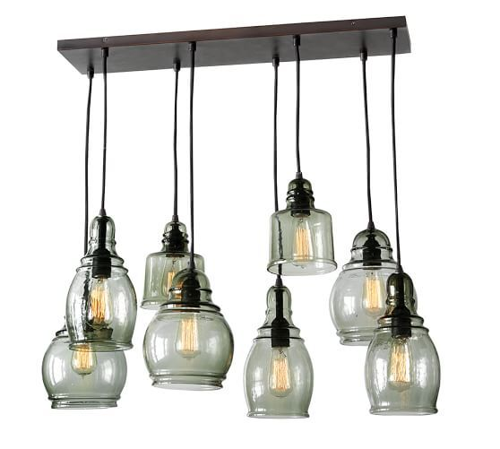 Paxton Glass 8 Light Pendant Farmhouse Pendant Lighting