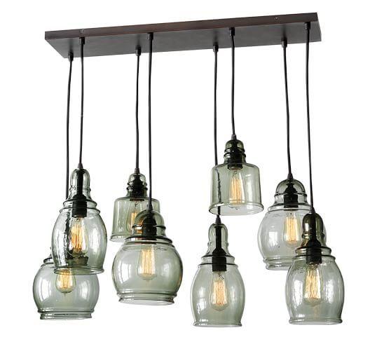 Kitchen Pendant Lighting Pottery Barn: Kitchen Light Over Island? Custom Bulbs Have Me Worried