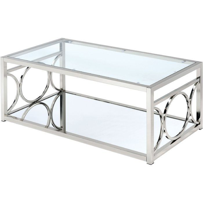 Frederika Floor Shelf Coffee Table With Storage Contemporary