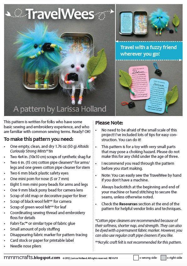 TravelWees PDF pattern