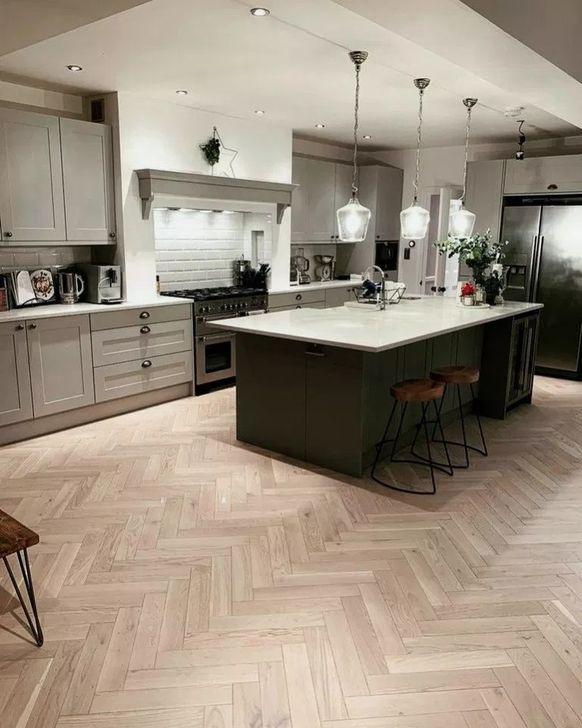 32 Extraordinary Dark Grey Shaker Design Ideas For Your Kitchen Open Plan Kitchen Living Room Home Decor Kitchen Kitchen Design
