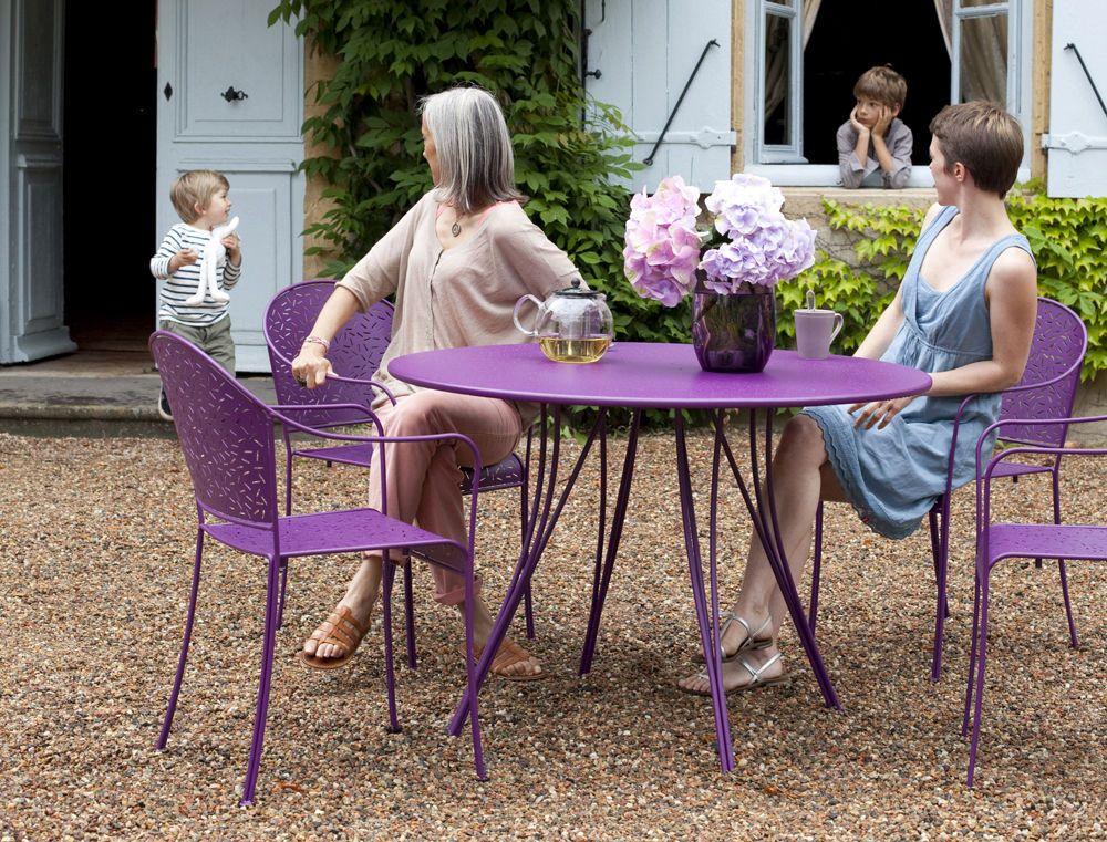 Tavoli Da Giardino Fermob.Tavolo Rotondo Da Giardino Moderno Metallo Rendez Vous By Pascal