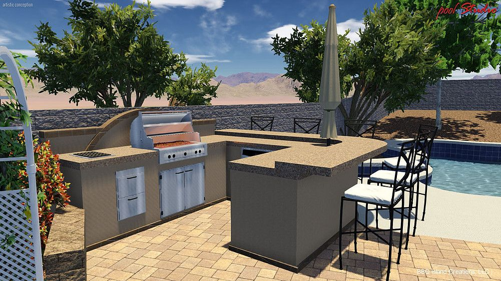 pictures of 3d outdoor kitchens and custom bbq island designs bbq island outdoor kitchen on outdoor kitchen island id=82051