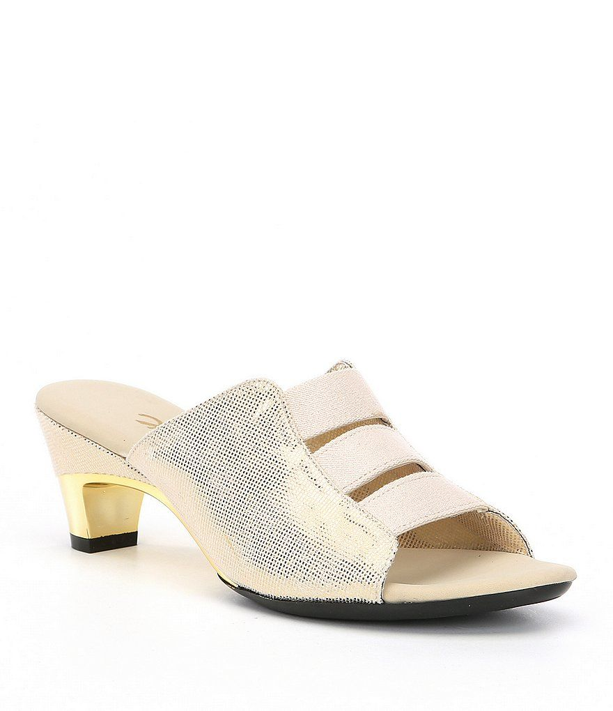 Selma Lizard Print Elastic Sandals wu3nh