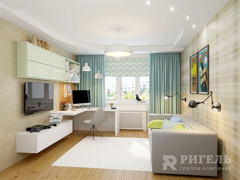Дизайн-проект трехкомнатной квартиры в современном стиле