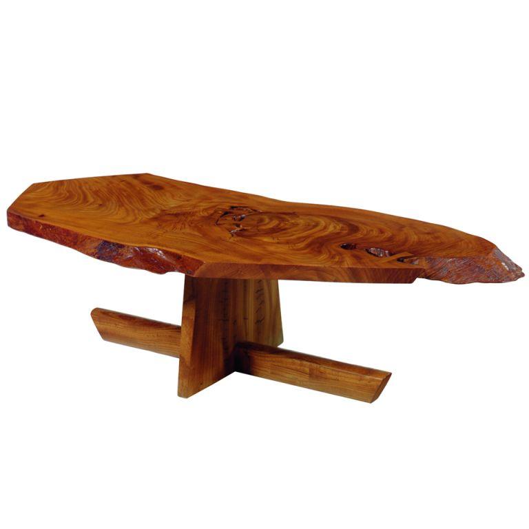 Modern Coffee Tables Usa: George Nakashima Rare Keyaki Minguren Coffee Table