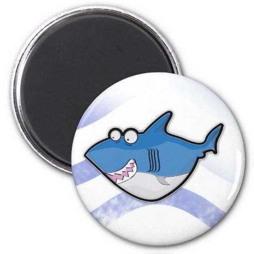 Sharky 2 Inch Round Magnet