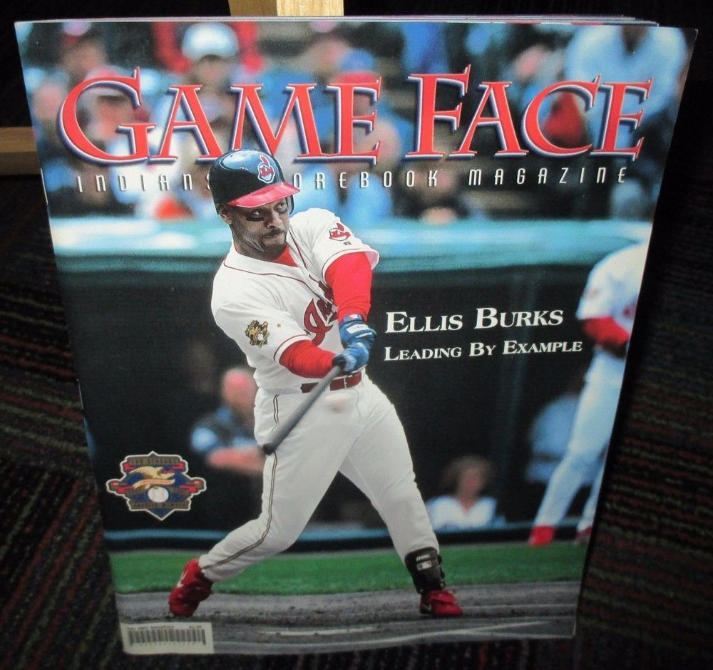 GAME FACE MAGAZINE JULY 2001 CLEVELAND INDIANS ELLIS BURKS, JACOBS FIELD, EXC.