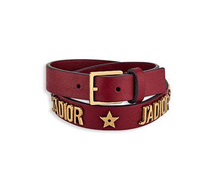 Bracelet « j\u0027adior » en cuir , Dior