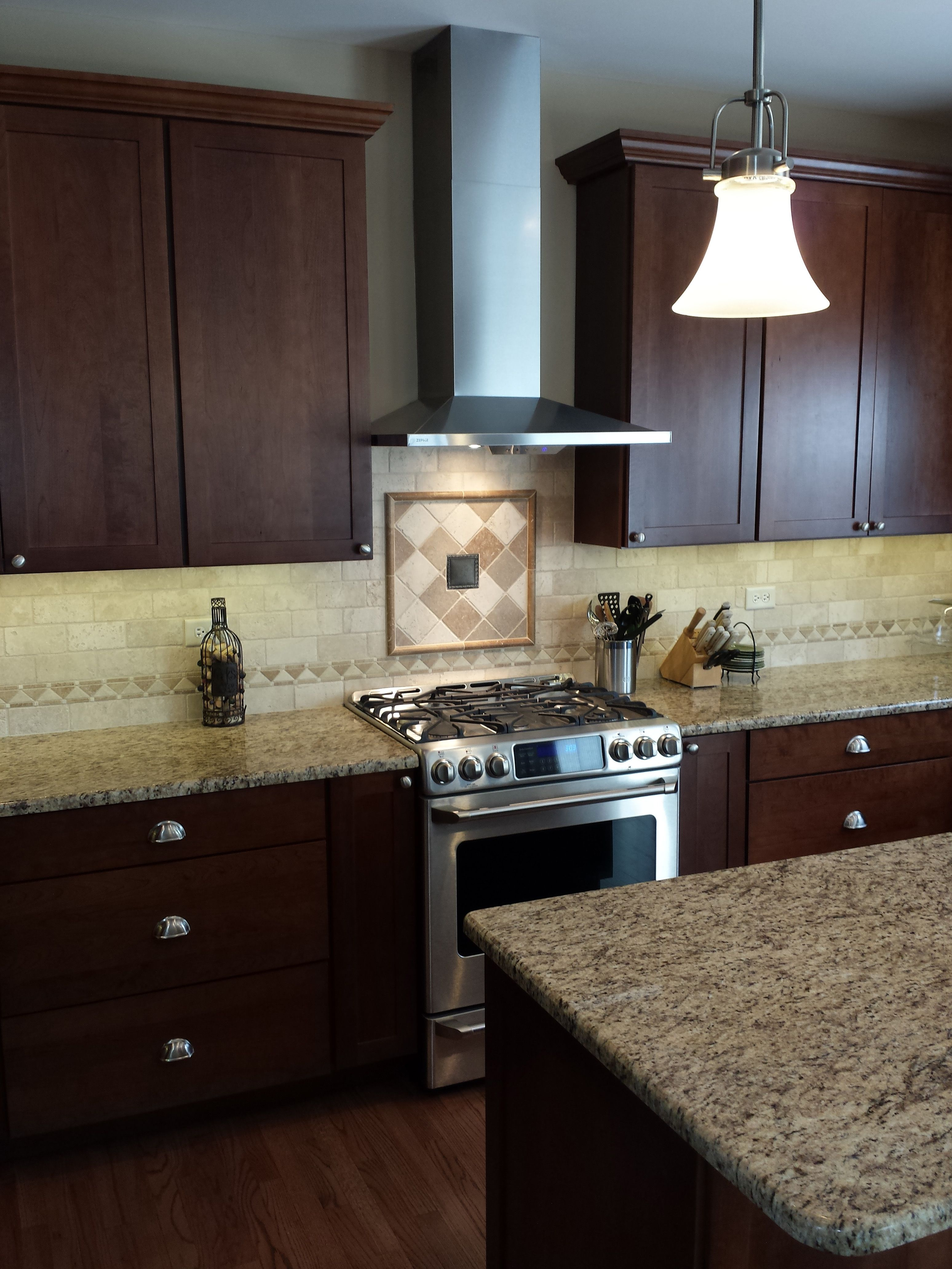 Best New Kitchen With Cherry Cabinet Granite Top And Marble 640 x 480