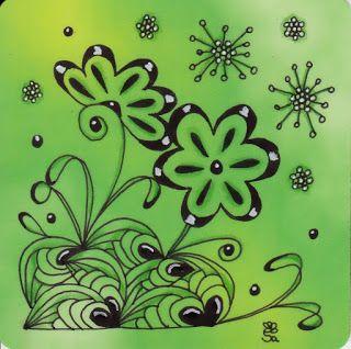 Sandras Tangles :-): Blumen und mehr / Flowers and more ;-)