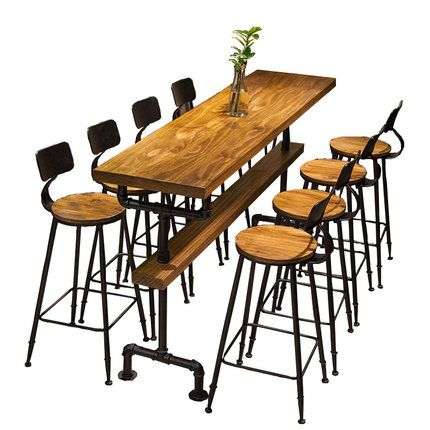 Only Us 55 10 Industrial Style Retro Bar Table Coffee Shop Solid Wood Wall High Bar Tables High Bar Table Coffee Shop Furniture Bar Table