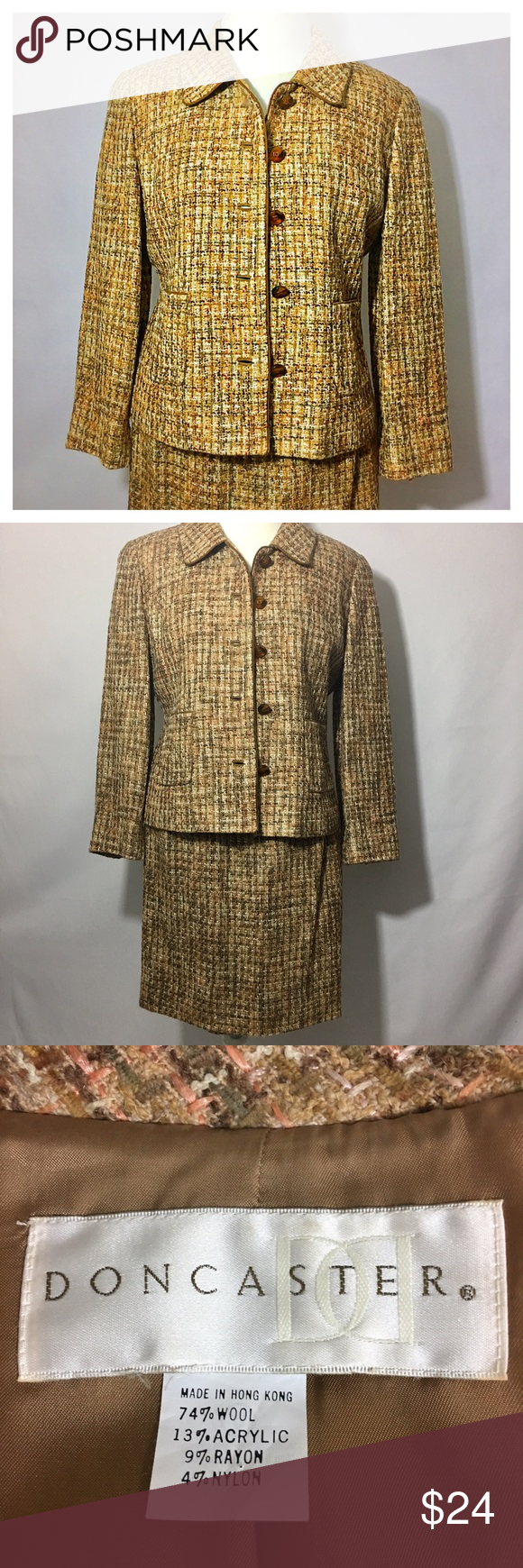 DONCASTER wool blazer and skirt bundle size 8 Wool