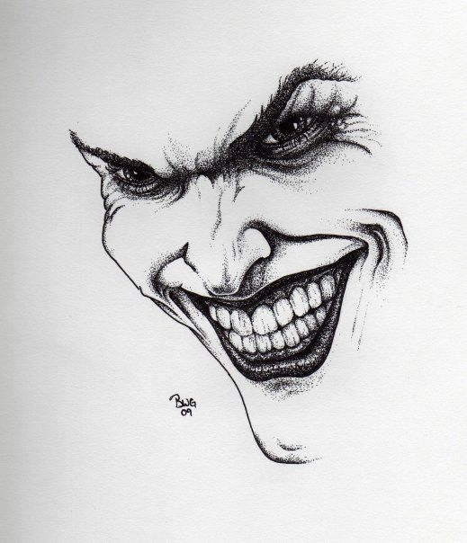 Joker drawing by graywolfcg deviantart com on deviantart