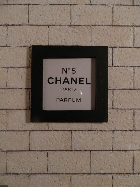 Chanel No 5 Mini   miniature doll house picture chanel 1:6 playscale from finescales  by DaWanda.com