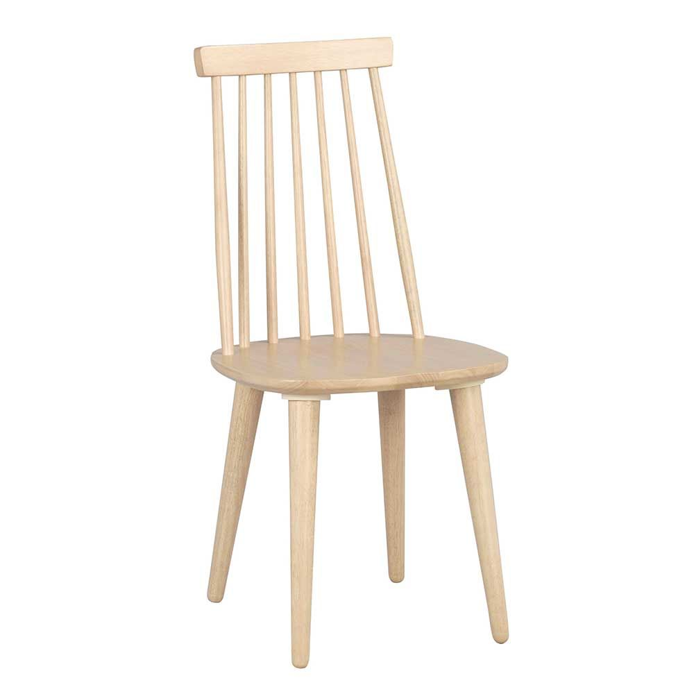 Esszimmerstuhl Set in Holz massiv White Wash (4er Set) Jetzt ...