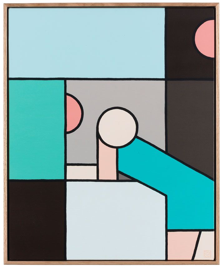 A Moment Of One S Own Block Colour Paintings By Stephen Baker