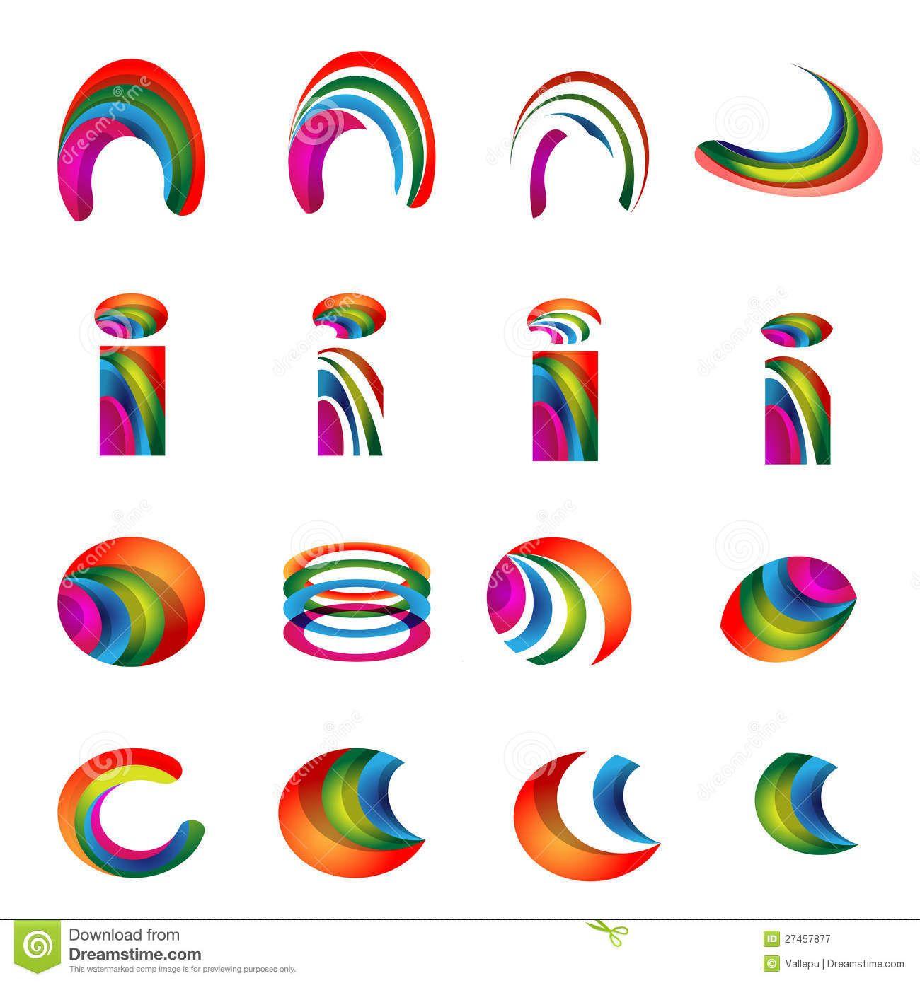 Vector Alphabet Vibrant Logo Designs Version 2 Royalty Free Stock ... for Logo Design For Alphabets  55jwn