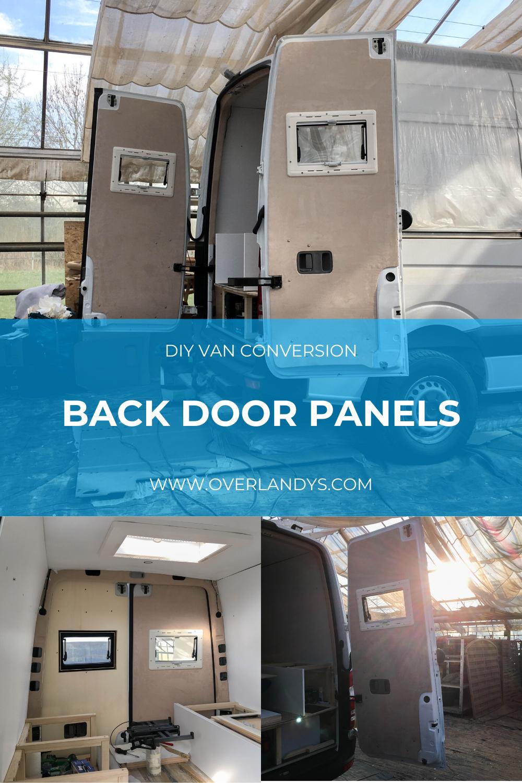 Camper Van Interior Back Door Panels In 2020 Campervan Interior Diy Van Conversions Van Interior
