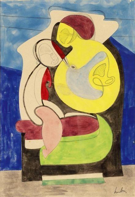 Maternité, 1927, by Auguste Herbin Marc Domenech Gallery, Barcelona