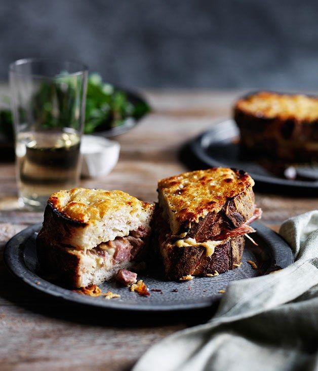 Pork hock croque-monsieur